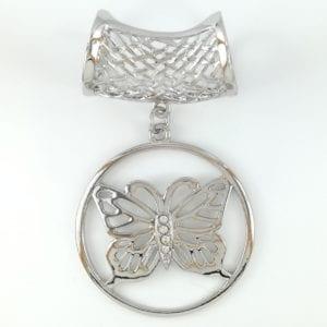 Bijou de foulard Papillon
