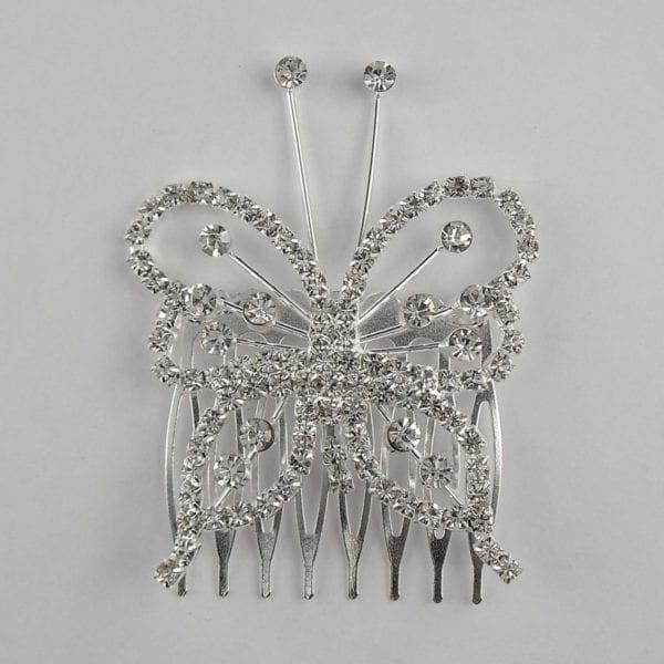 Peigne Papillon Cristal