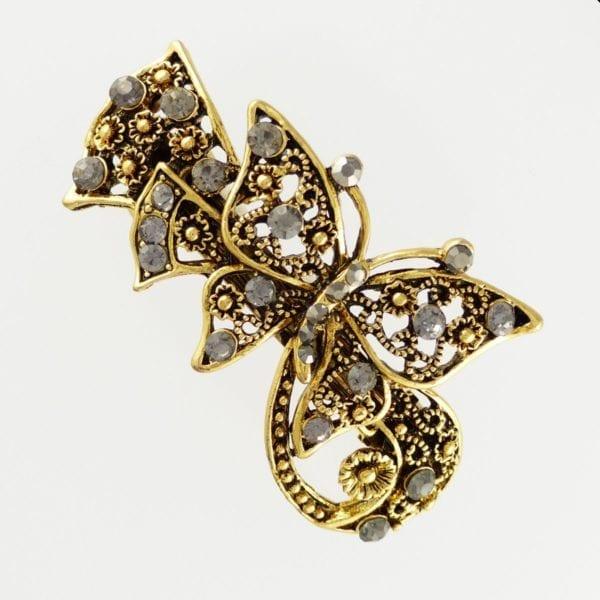 Petite barrette à cheveux dorée papillon Loops
