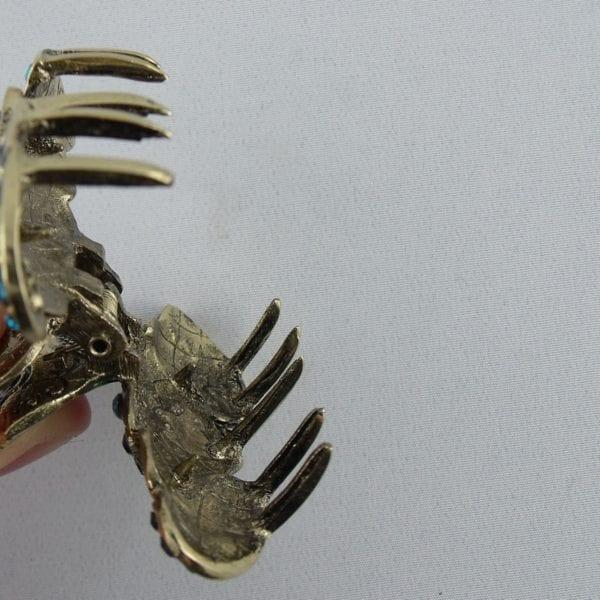Pince crabe moyenne dorée Bijou