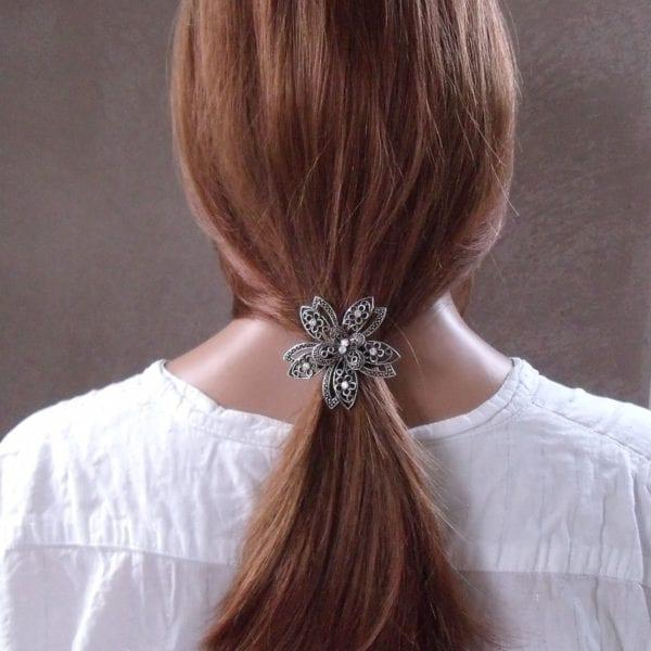 Elastique à cheveux bijou strass Lika