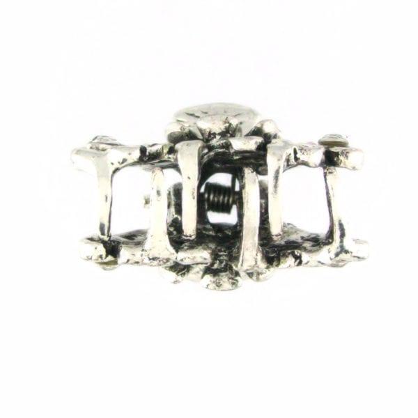 Petite pince crabe argentée Palmina