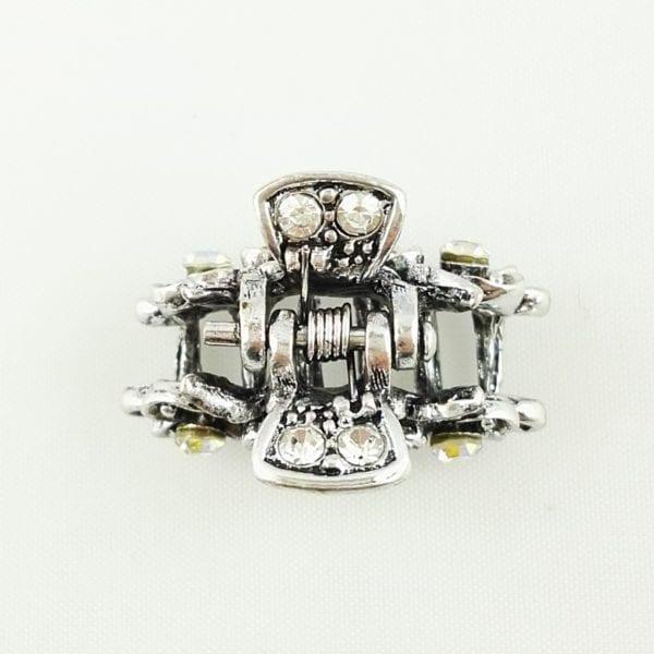 Petite pince crabe argentée Taly