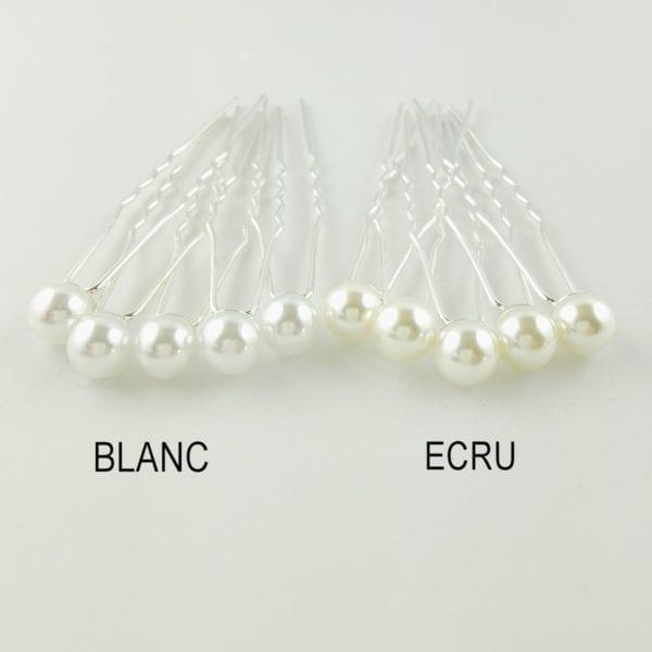 5 Epingles à cheveux Petites Perles Nacrées 7 mm