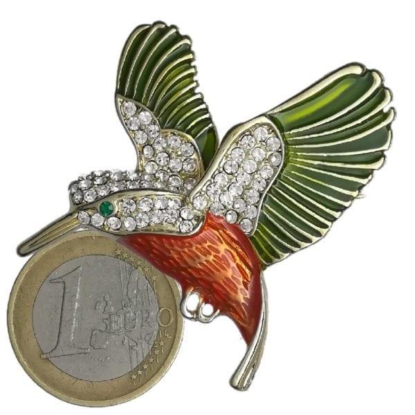Broche Colibri Strass en Cristal - Multicolore