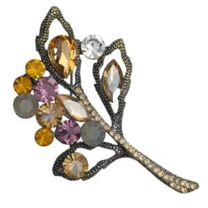 broche-feuille-strass-en-cristal-orange