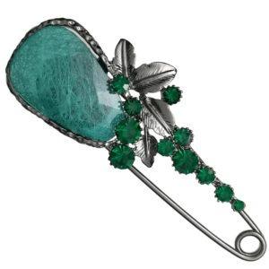broche-fibule-strass-en-cristal-vert