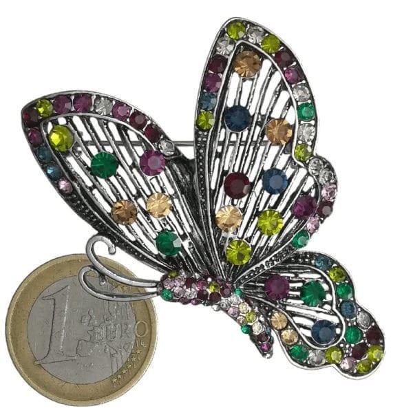 Broche Papillon Strass en Cristal