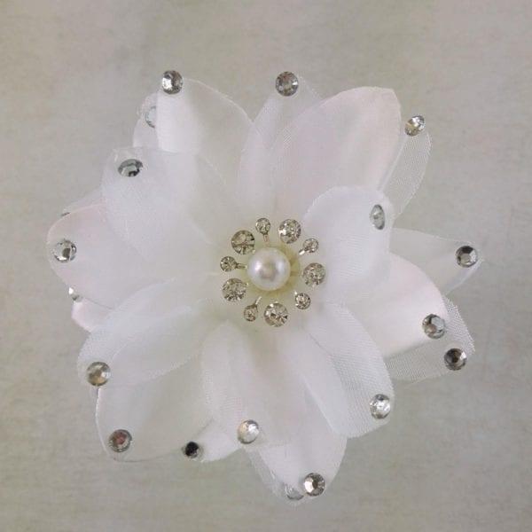 Epingle à Cheveux Fleur strass et perle