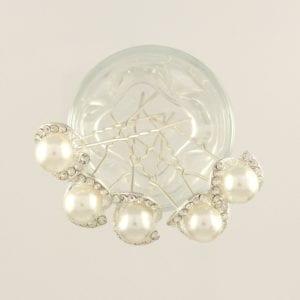 5 Epingles à cheveux perle et strass Luxy