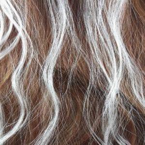 6 extensions mèche de cheveux – Blanc nacré
