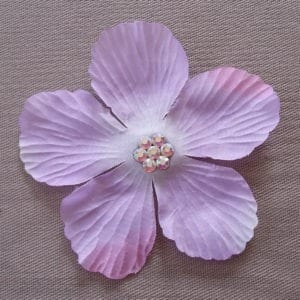 Fleur pour cheveux Cristal parme