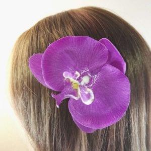 Grande Orchidée en tissu