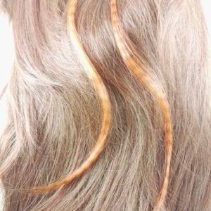 Lot de 2 mèche cheveux couleur effet plume