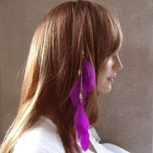 Plumes à coiffer violet