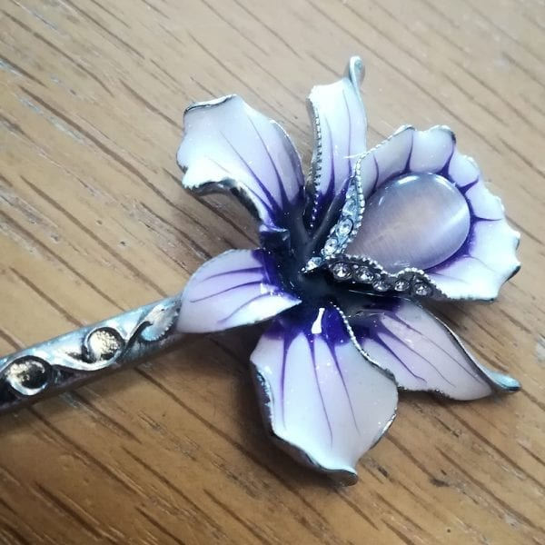 Pic à Chignon Métal Cloisonné Orchidia