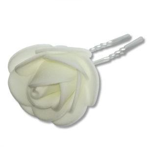 Épingle-à-cheveux-de-mariée-fleur-tissus-mousseline-blanc