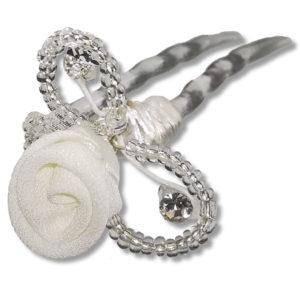 Épingle-cheveux-de-mariée-perles-strass-et-fleur-marge-blanc
