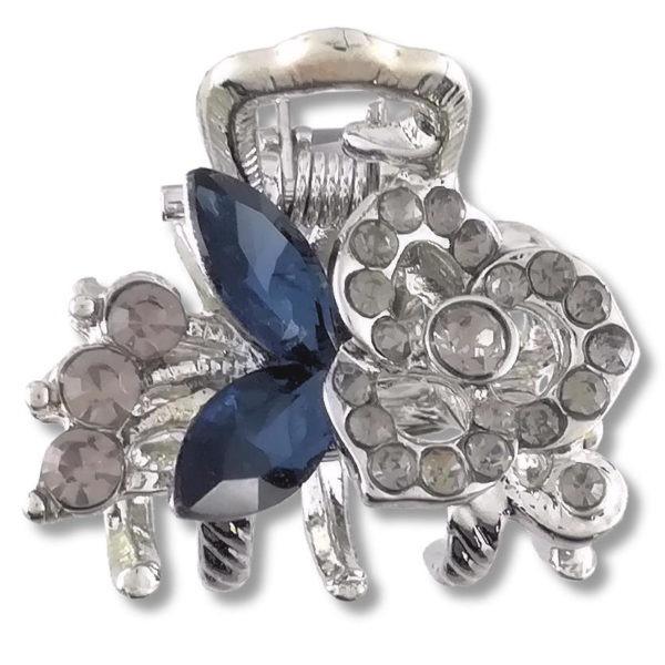 petite-pince-à-cheveux-crabe-argentée-biaz-bleu