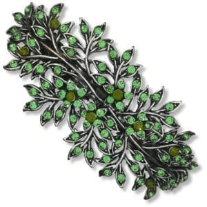 grande-barrette-à-cheveux-argentée-velloma-vert