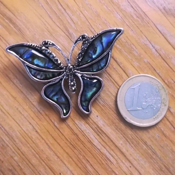 Broche Grand Papillons Strass en Cristal