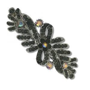 Petite Barrette Cheveux Argentée Krishna - Gris